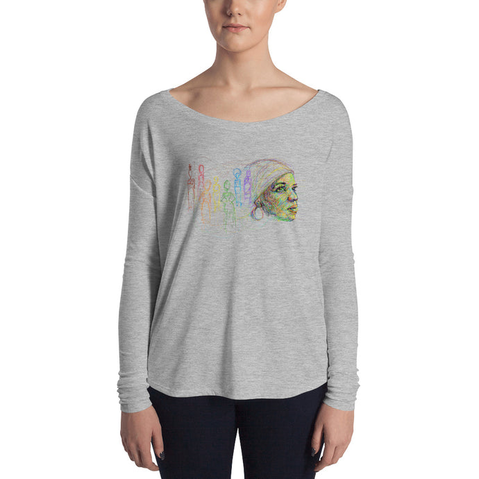 'I Found God In Myself' – Ntozake Shange tribute by pierre bennu Ladies' Long Sleeve Tee