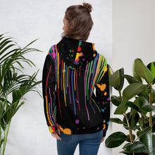 "Load image into Gallery viewer, ""Be art"" - paint splatter unisex hoodie"