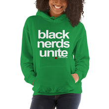 Load image into Gallery viewer, Black Nerds Unite - the unisex hoodie