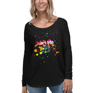 Art Life - Ladies' Long Sleeve Flowy Tee