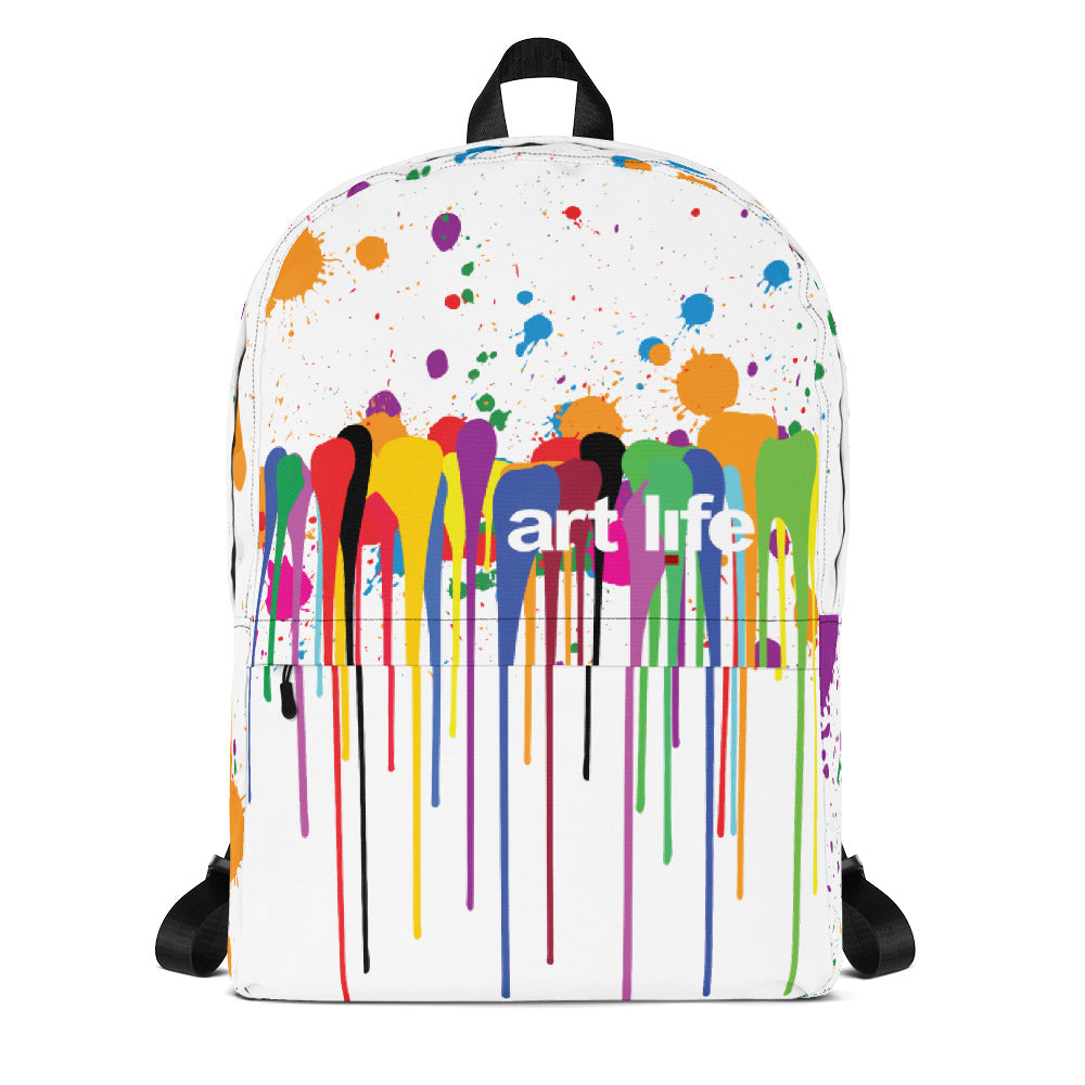 Art Life - paint splatter backpack