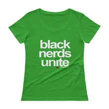 Load image into Gallery viewer, Black Nerds Unite Ladies' Scoopneck T-Shirt