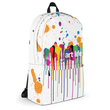 Load image into Gallery viewer, Art Life - paint splatter backpack