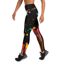"Load image into Gallery viewer, ""Be Art"" Paint Splatter Yoga Leggings"