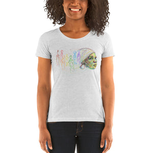 'I Found God In Myself' – Ntozake Shange tribute Ladies' short sleeve t-shirt by pierre bennu