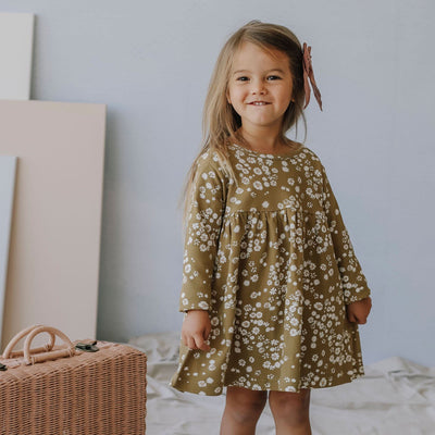 Daisy Floral LS Dress