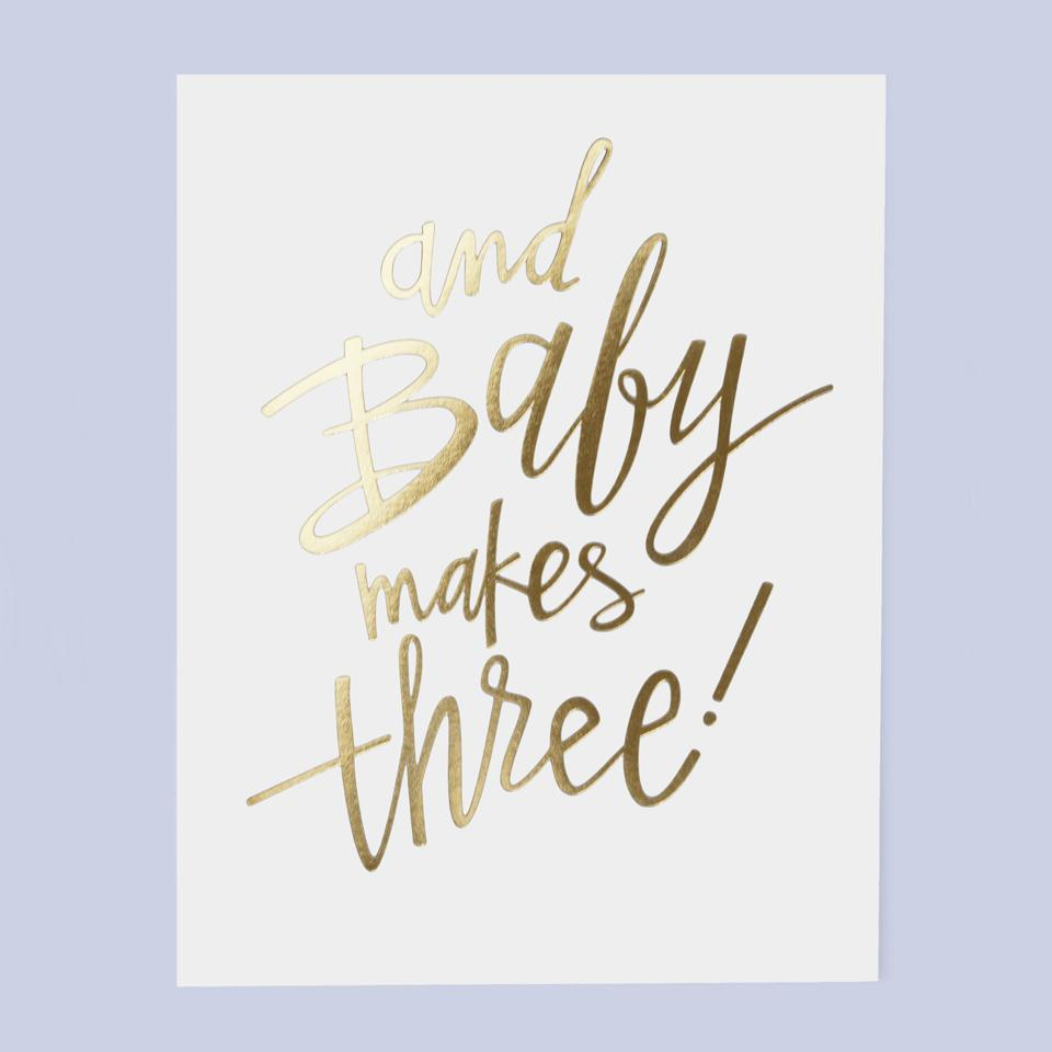 And Baby Makes Three Greeting Card