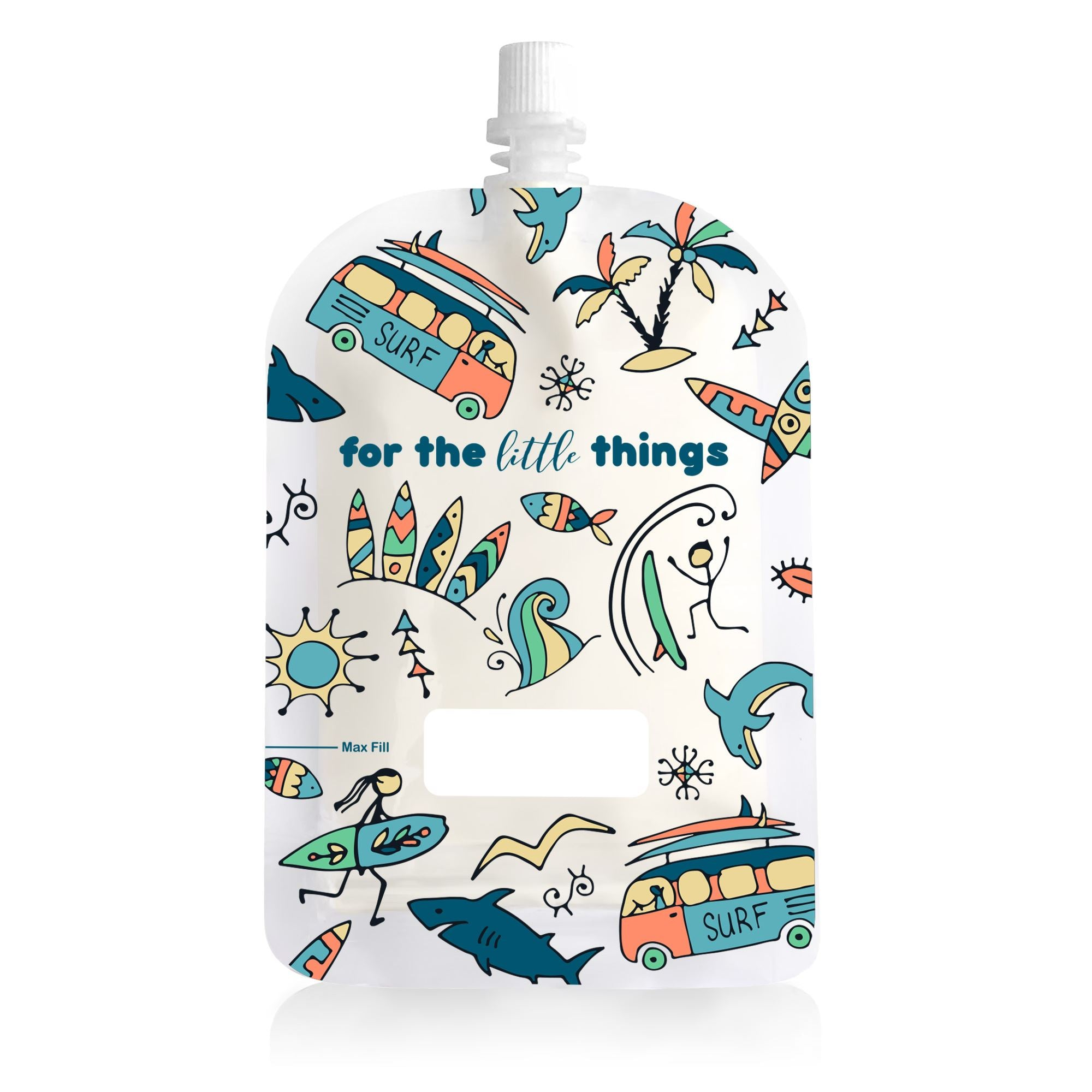 Reusable Food Pouch - Surfing 150ml (10 Pack)