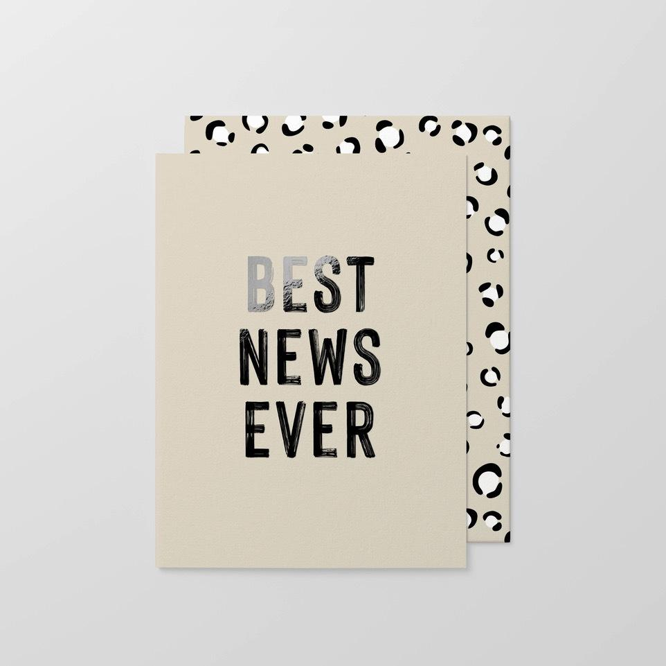Best News Ever Small Greeting Card