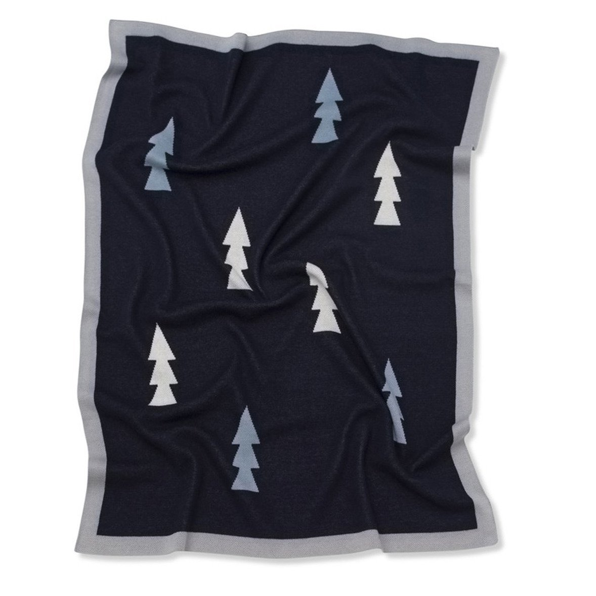 Trees Baby Blanket (Navy)