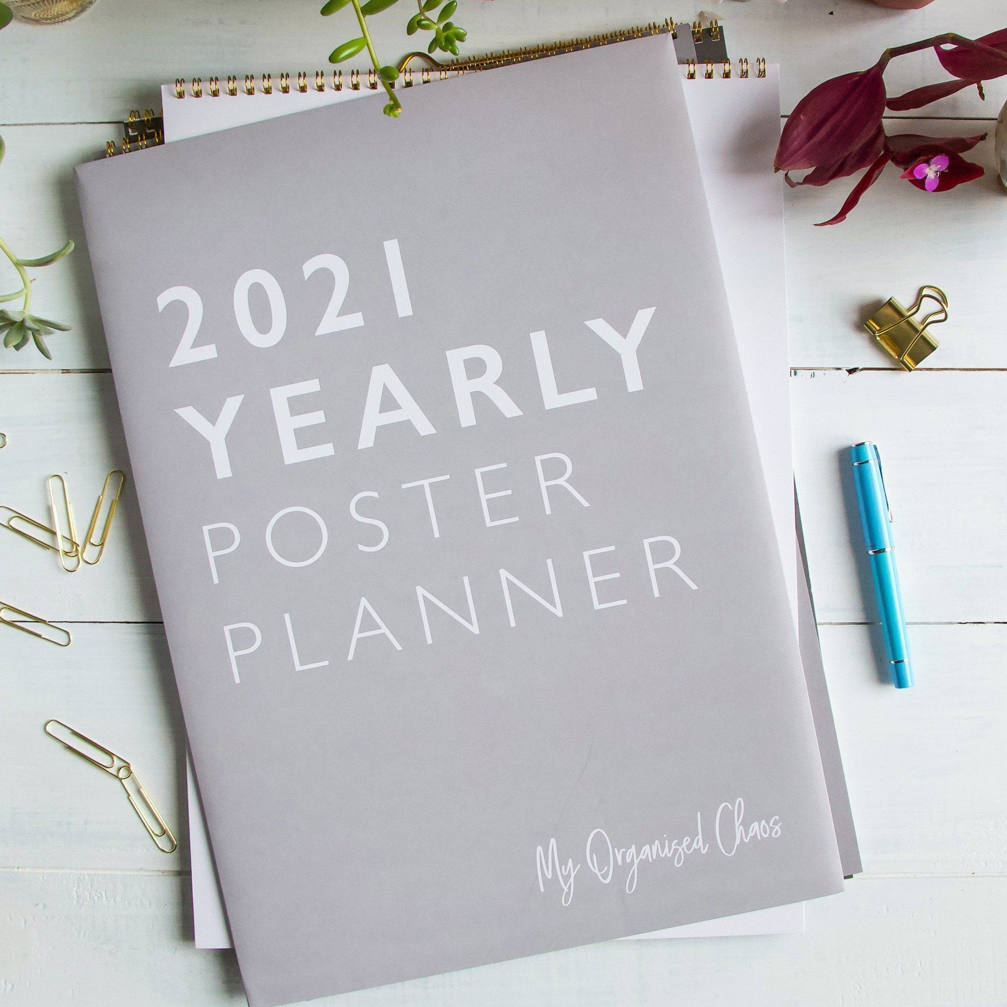 2021 Yearly Wall Planner