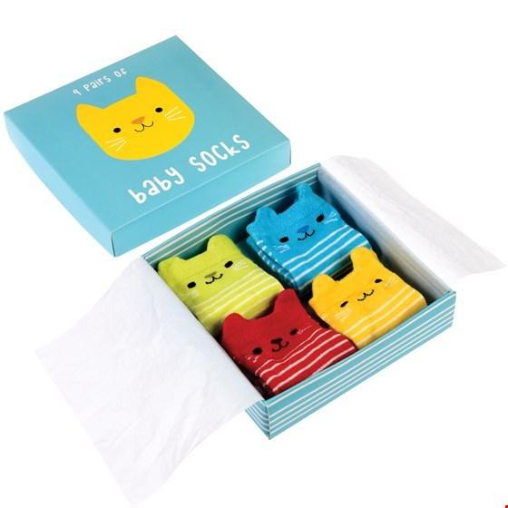Kitten Baby Socks (4 Pack)