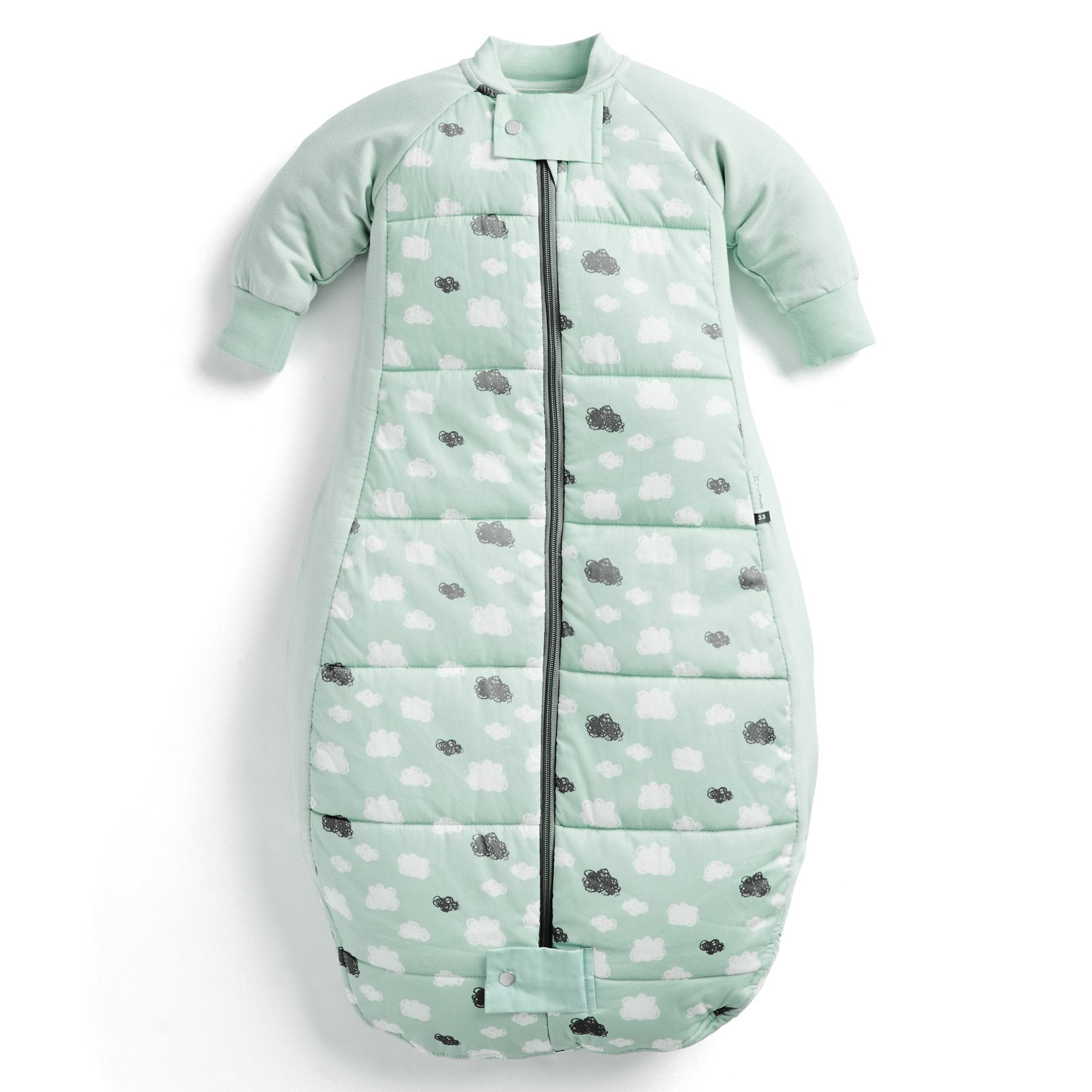 Sheeting Sleeping Bag 3.5 tog (Mint Clouds)
