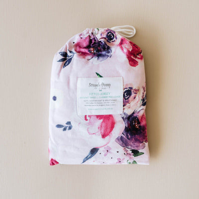 Floral Kiss Bassinet Sheet