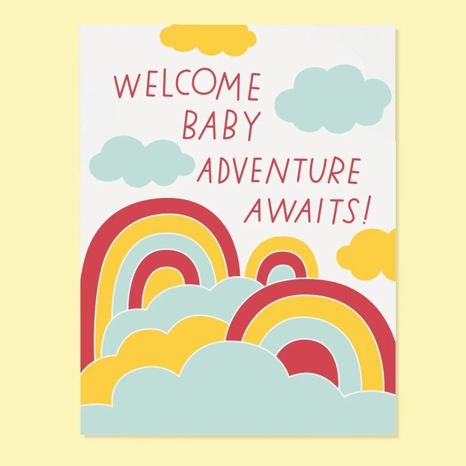 Adventure Awaits Baby Greeting Card