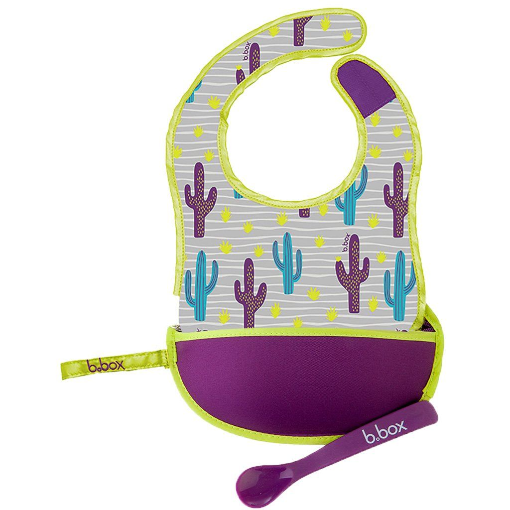 Travel Bib & Spoon (Cactus Capers)