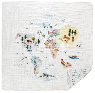 Around the World Dream Blanket (Map)
