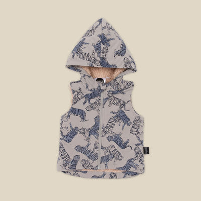 Tonal Tigers Hooded Vest