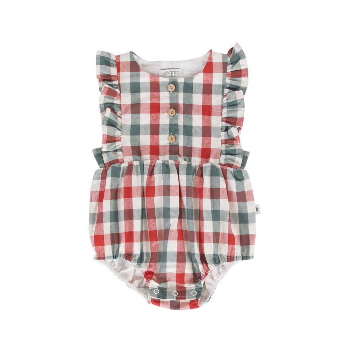 August Playsuit (Red/Green Check)
