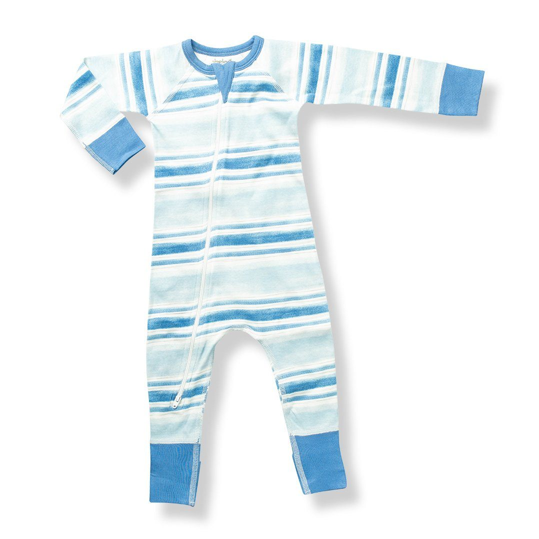 Blue Stream Zip Romper