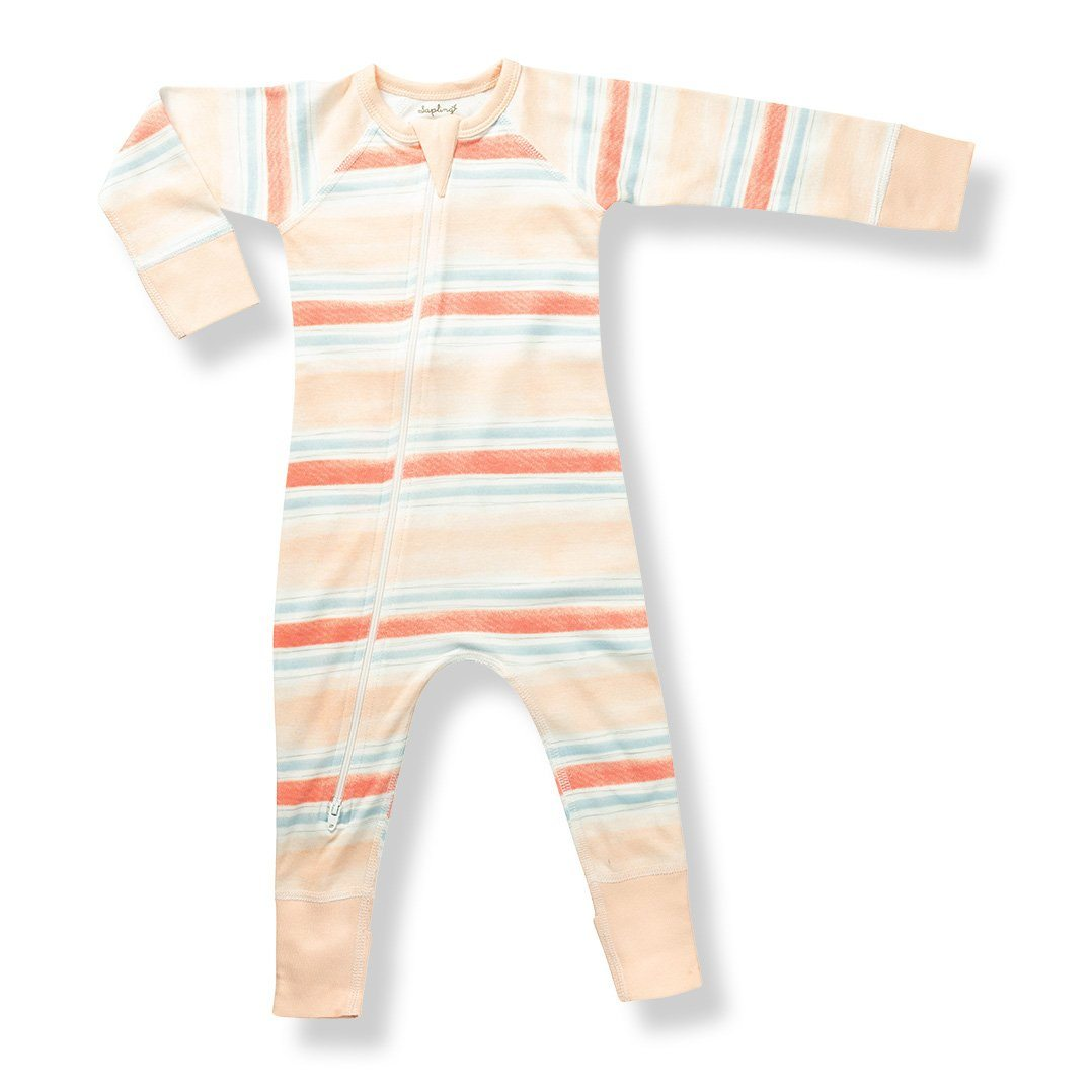 Sunset Stream Zip Romper