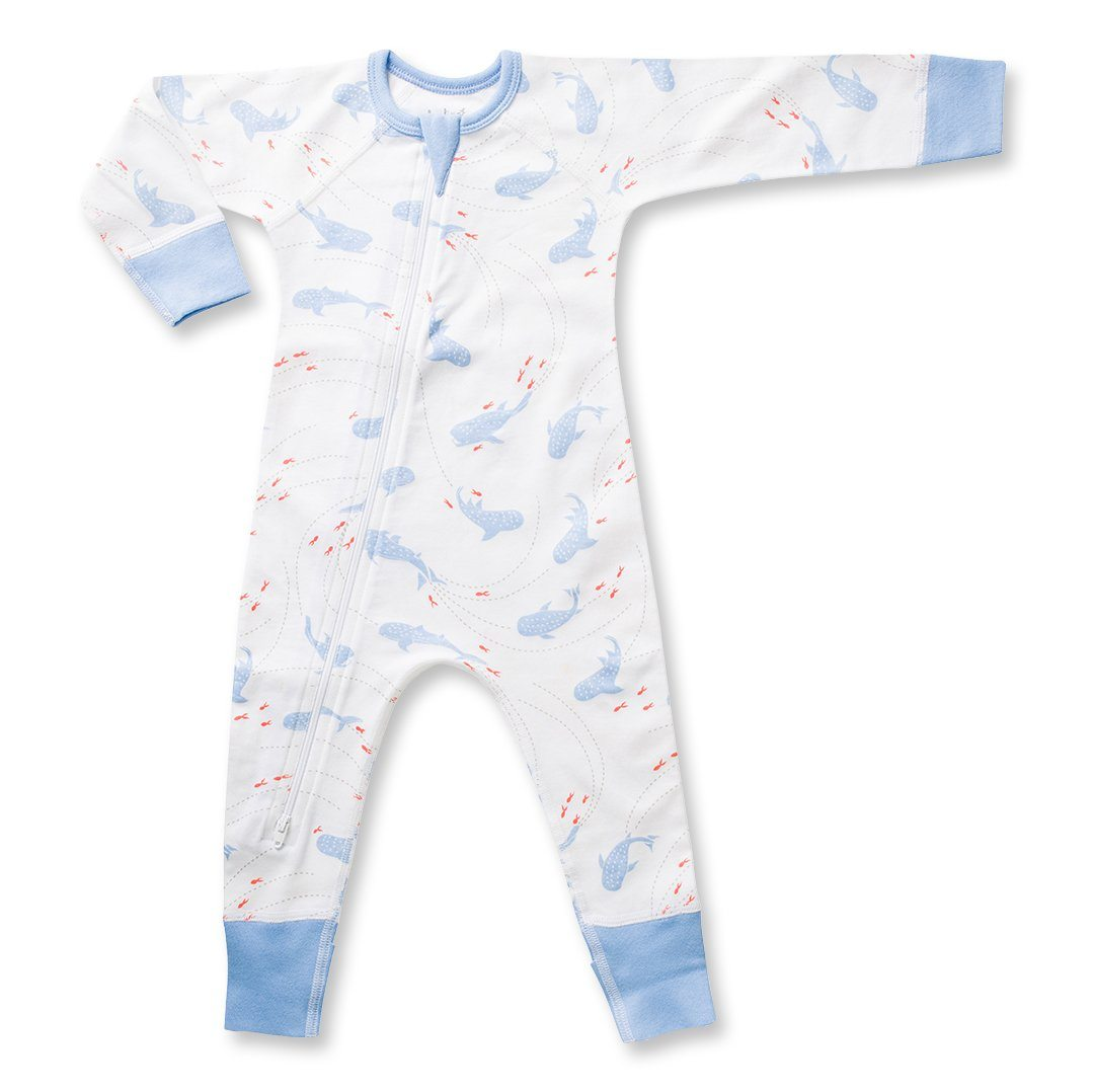 Whale Shark Zip Romper