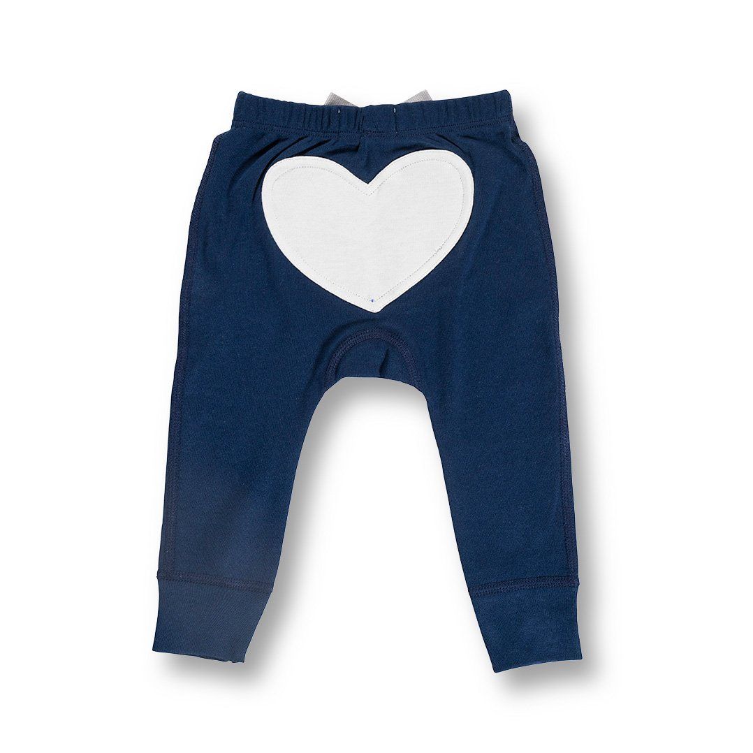 Little Bear Blue Heart Pants