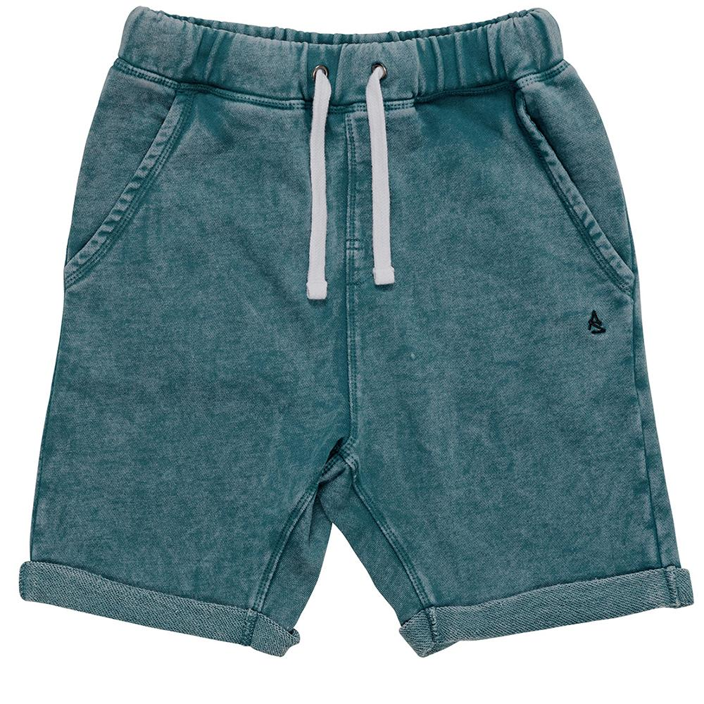 Chill Bill Short (Teal Acid Wash)