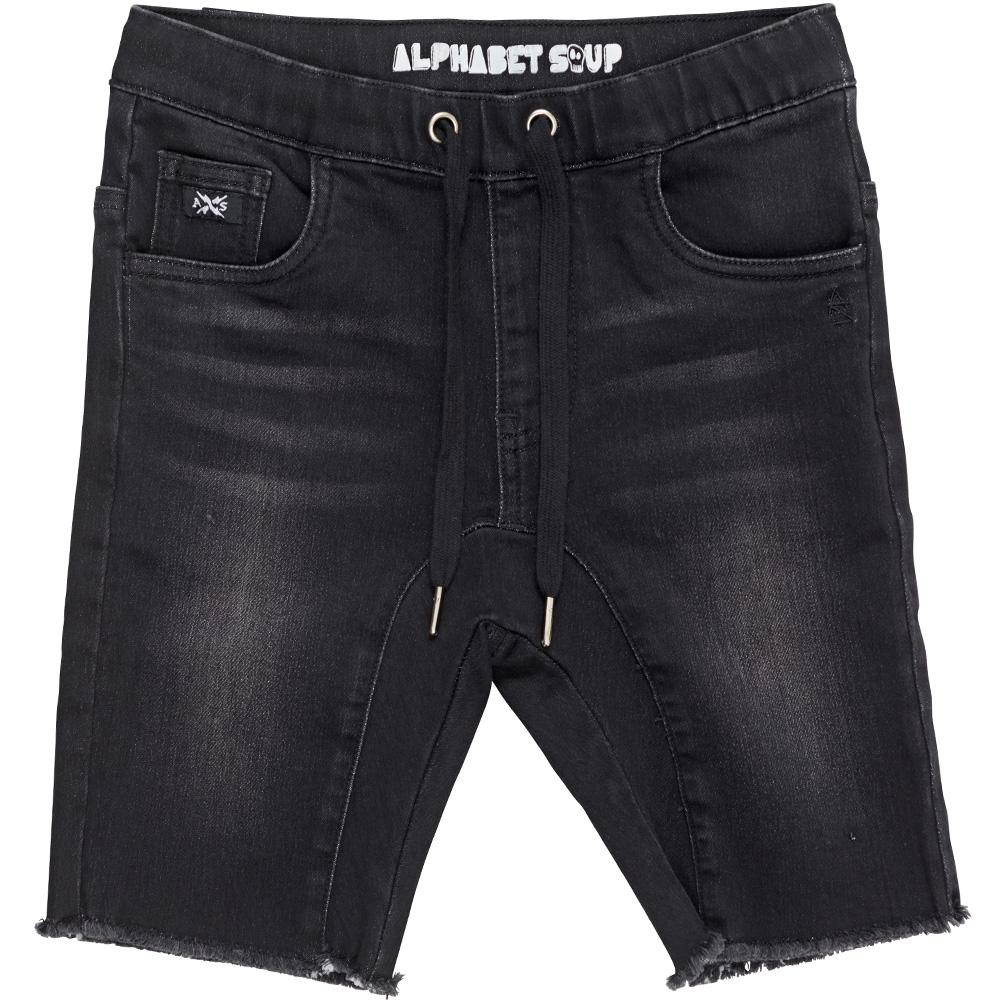 Black Out Jogger Jean Shorts