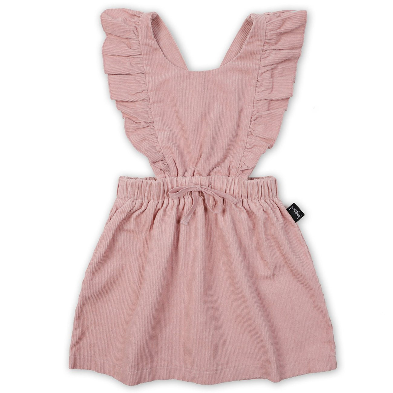 Corduroy Ruffle Pinafore Dress