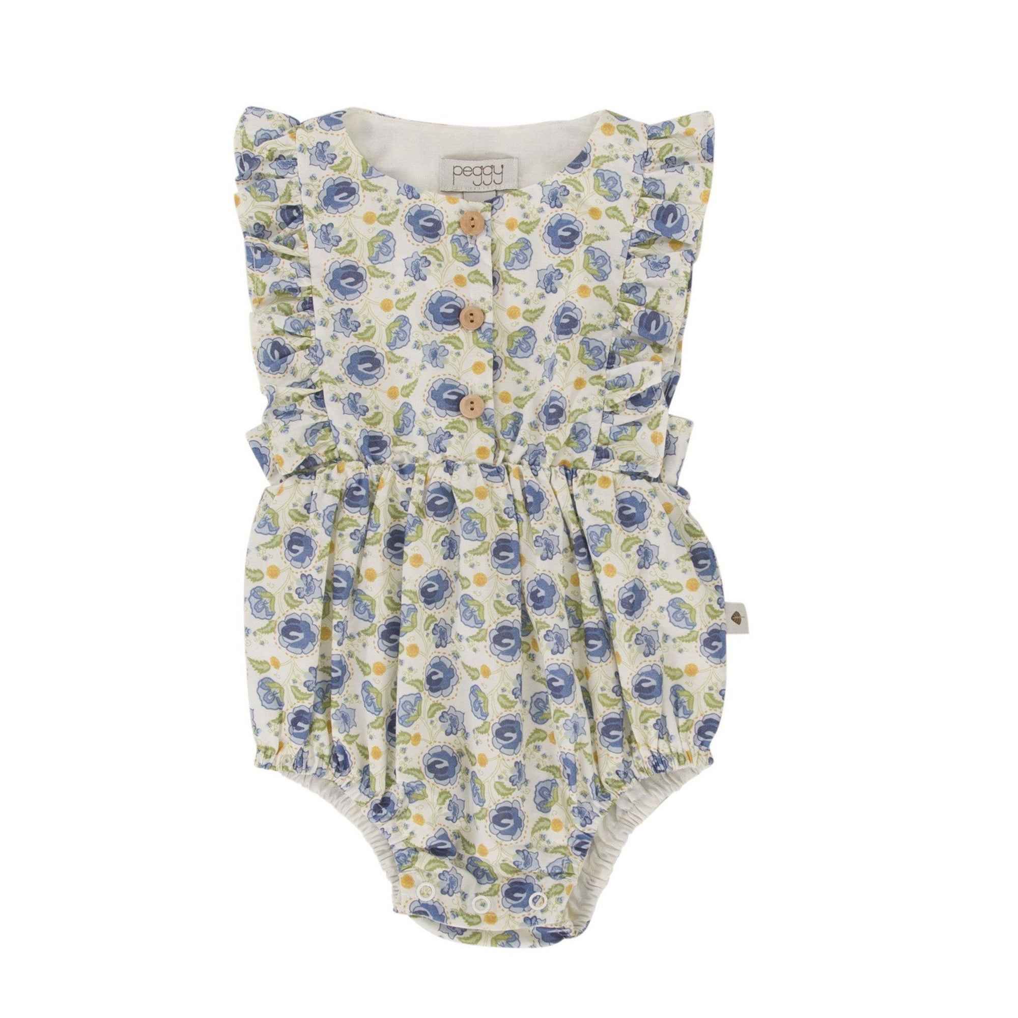 August Playsuit (Blue Floral)