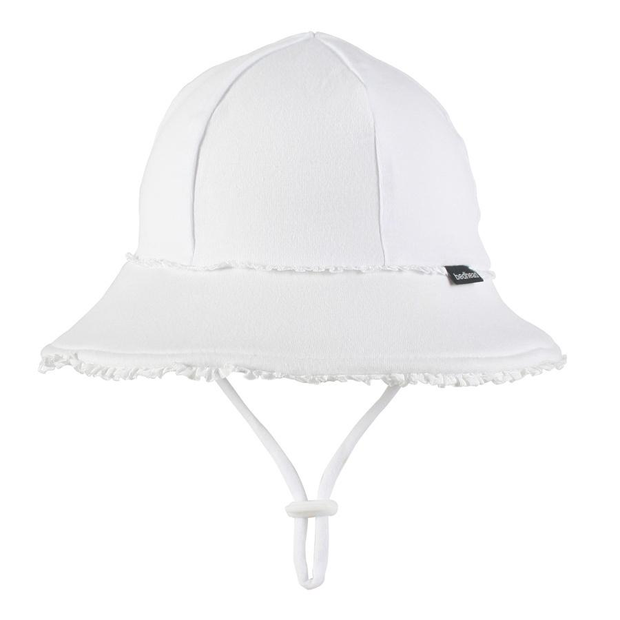 Baby Bucket Ruffle Trim Hat (White)