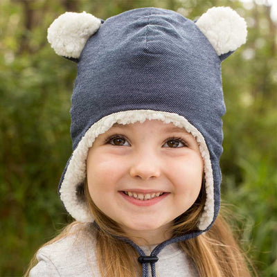 Teddy Fleecy Beanie (Denim)