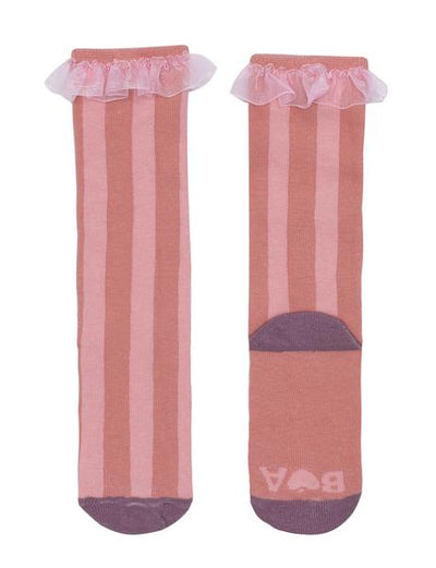 Big Top Stripe Rust Knee High Socks