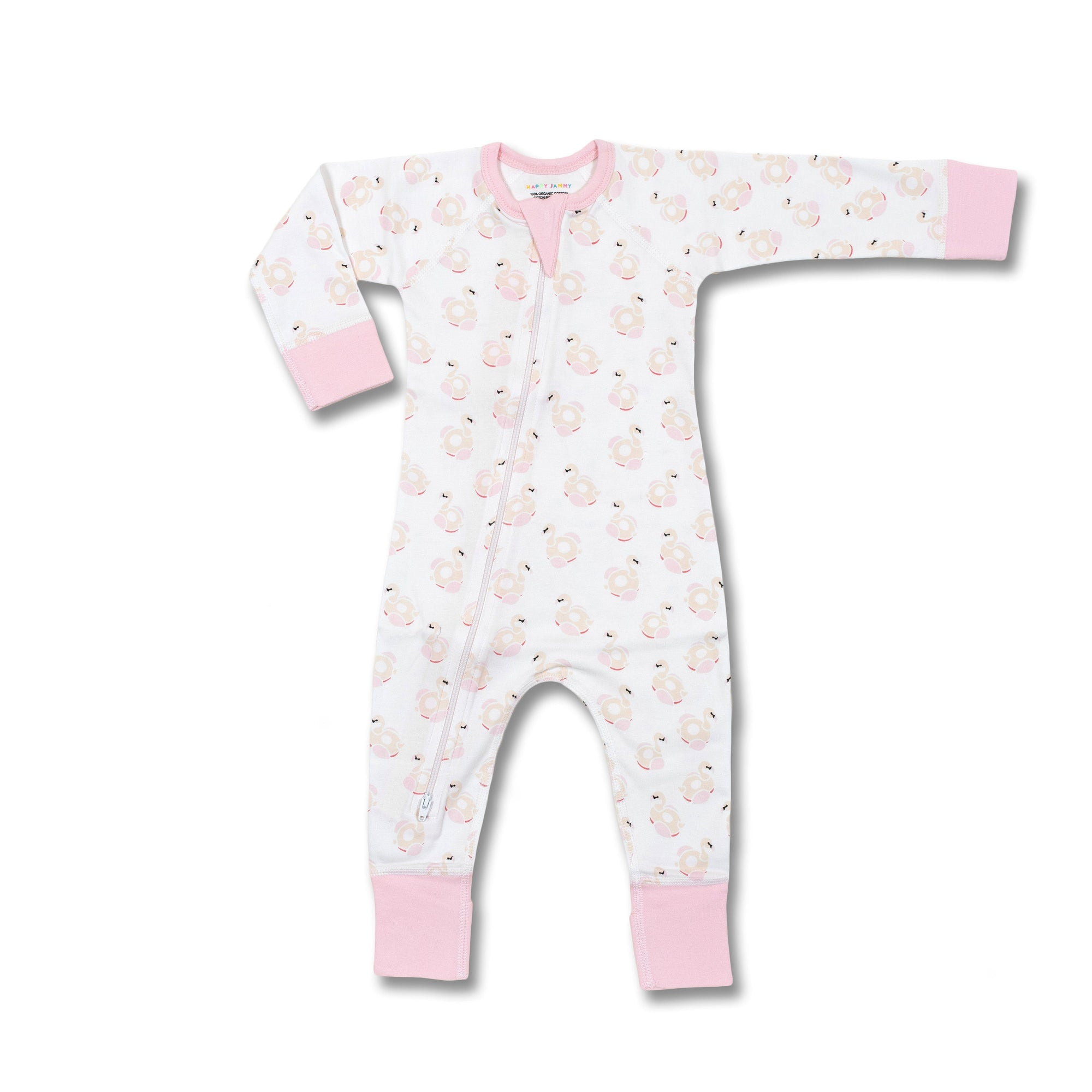 Flamingos Zip Romper