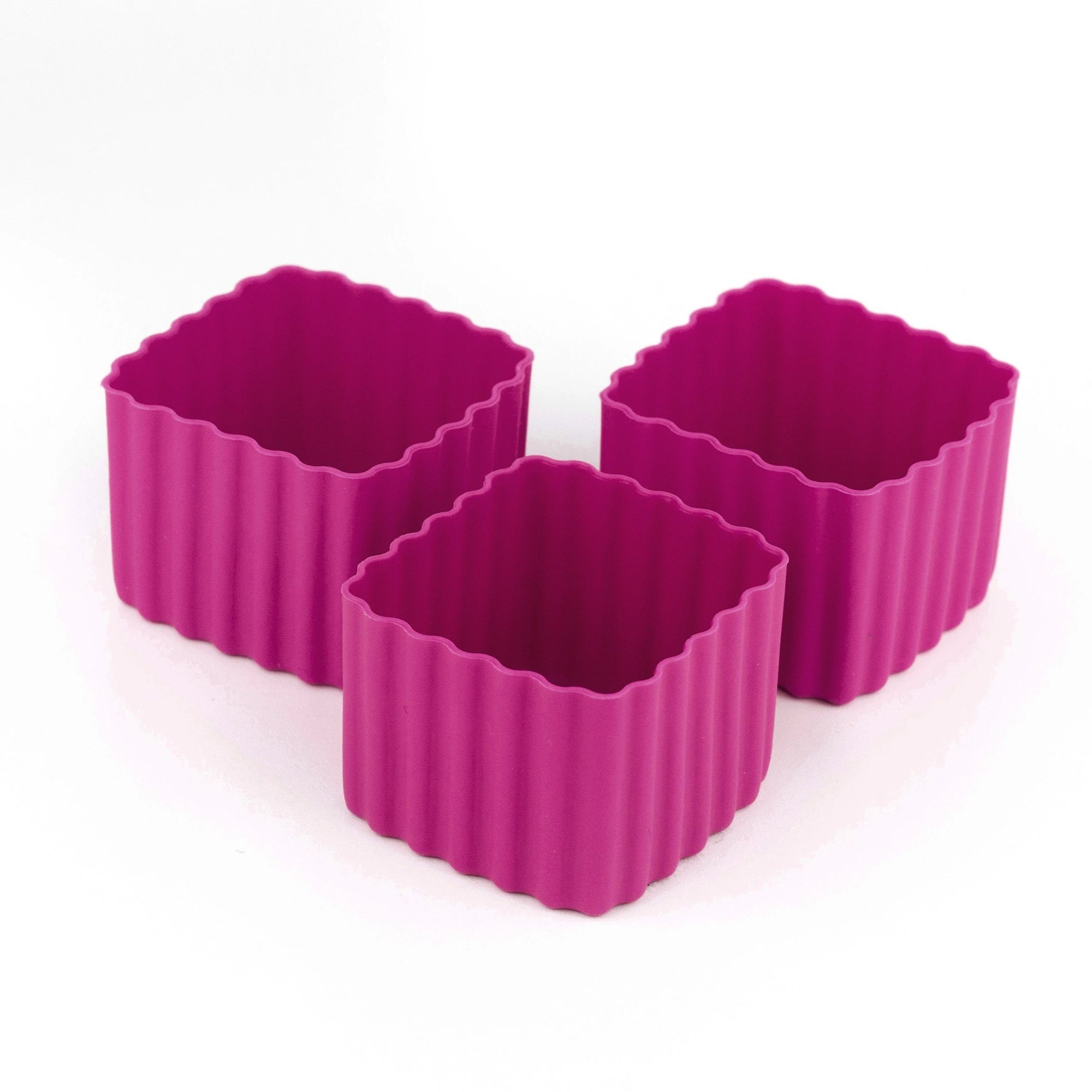 Bento Square Cups (Dark Pink)