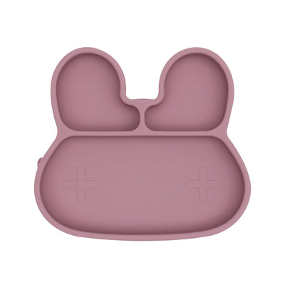 Bunny Stickie Plate (Dusty Rose)