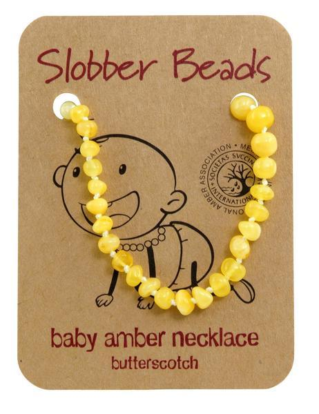 Amber Baby Teething Necklace (Butterscotch Round)