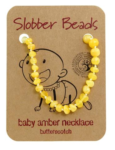 Amber Baby Teething Necklace (Butterscotch Oval)