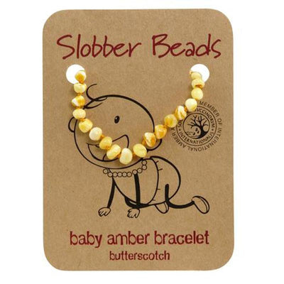 Amber Baby Teething Bracelet (Butterscotch Round)