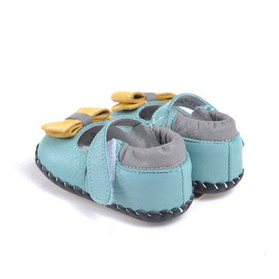 Simple Bow Mary Janes (Blue)