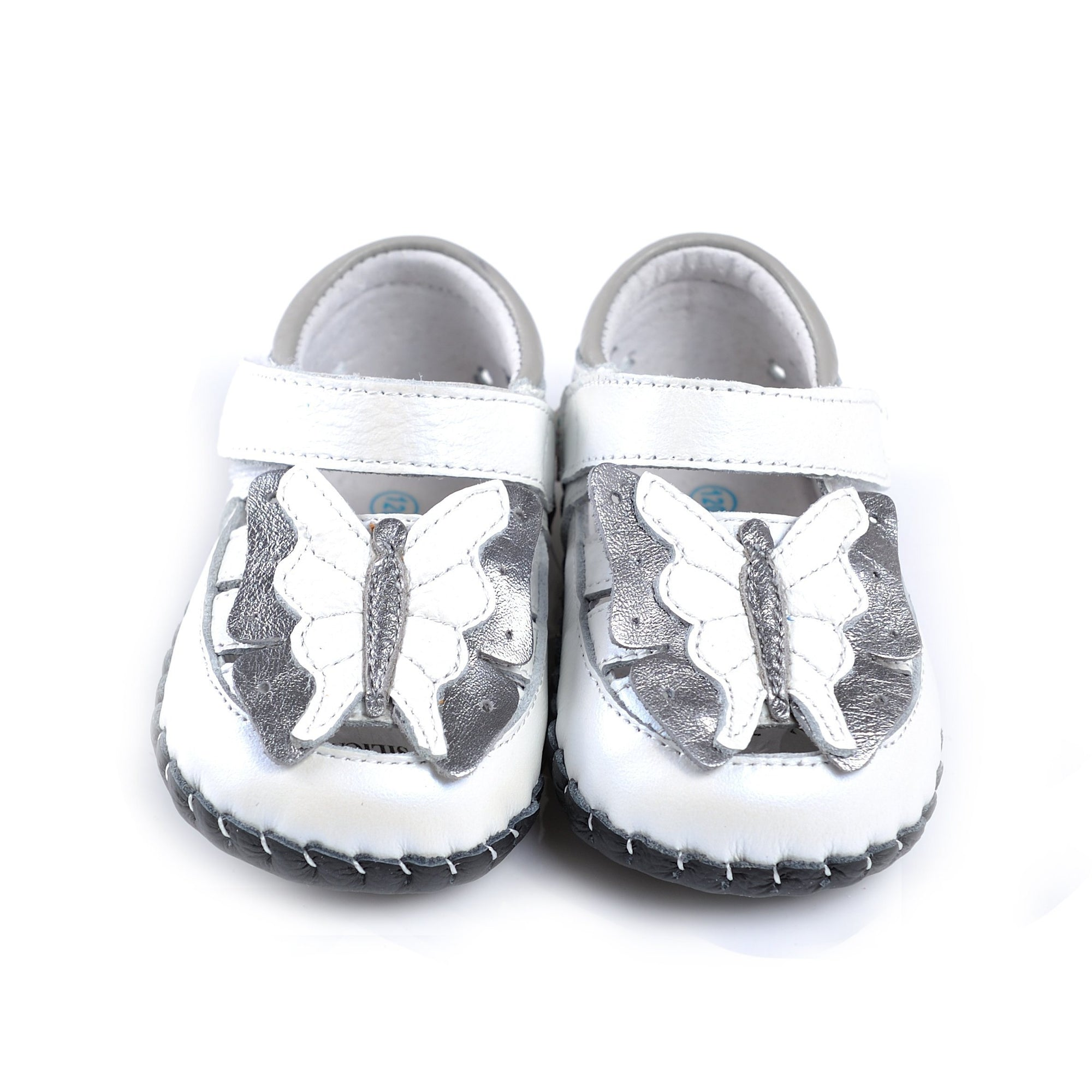 Butterfly Mary Janes (White)