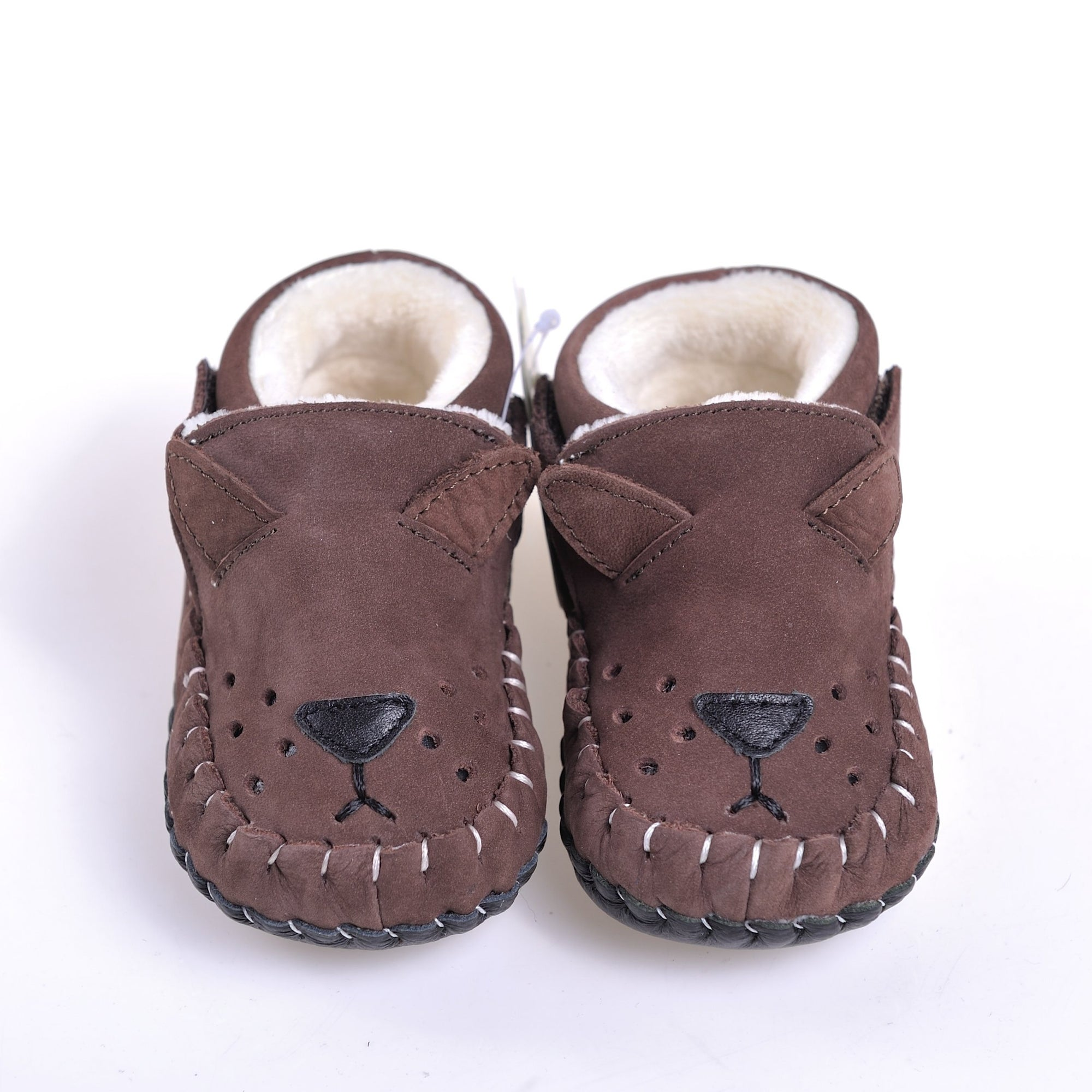 Bear Suede Fur Boots (Brown)