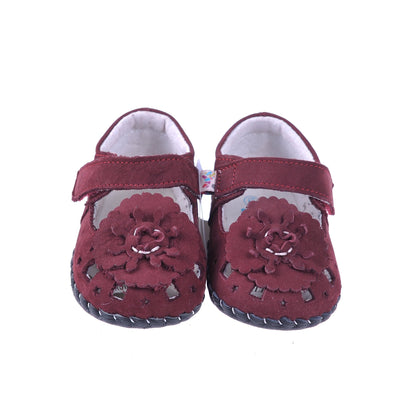 Pretty Bloom Mary Janes (Deep Red)