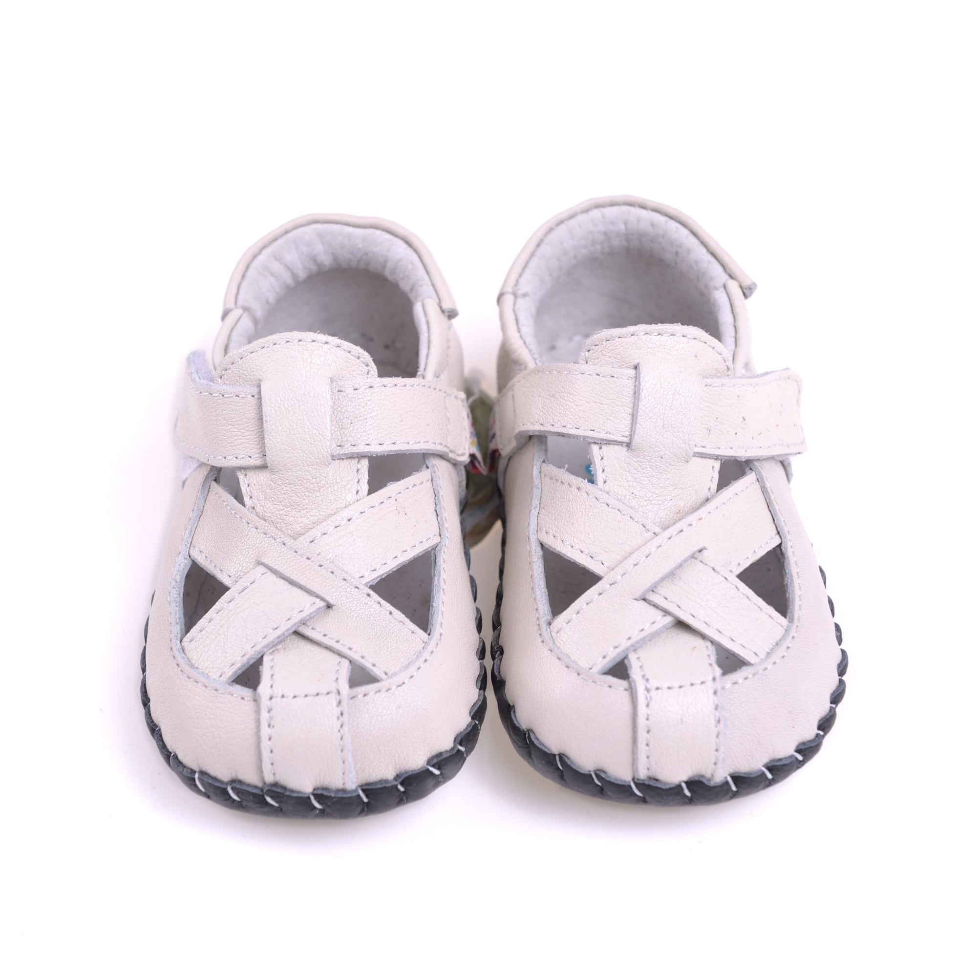 Cross Over Sandals (Cream)