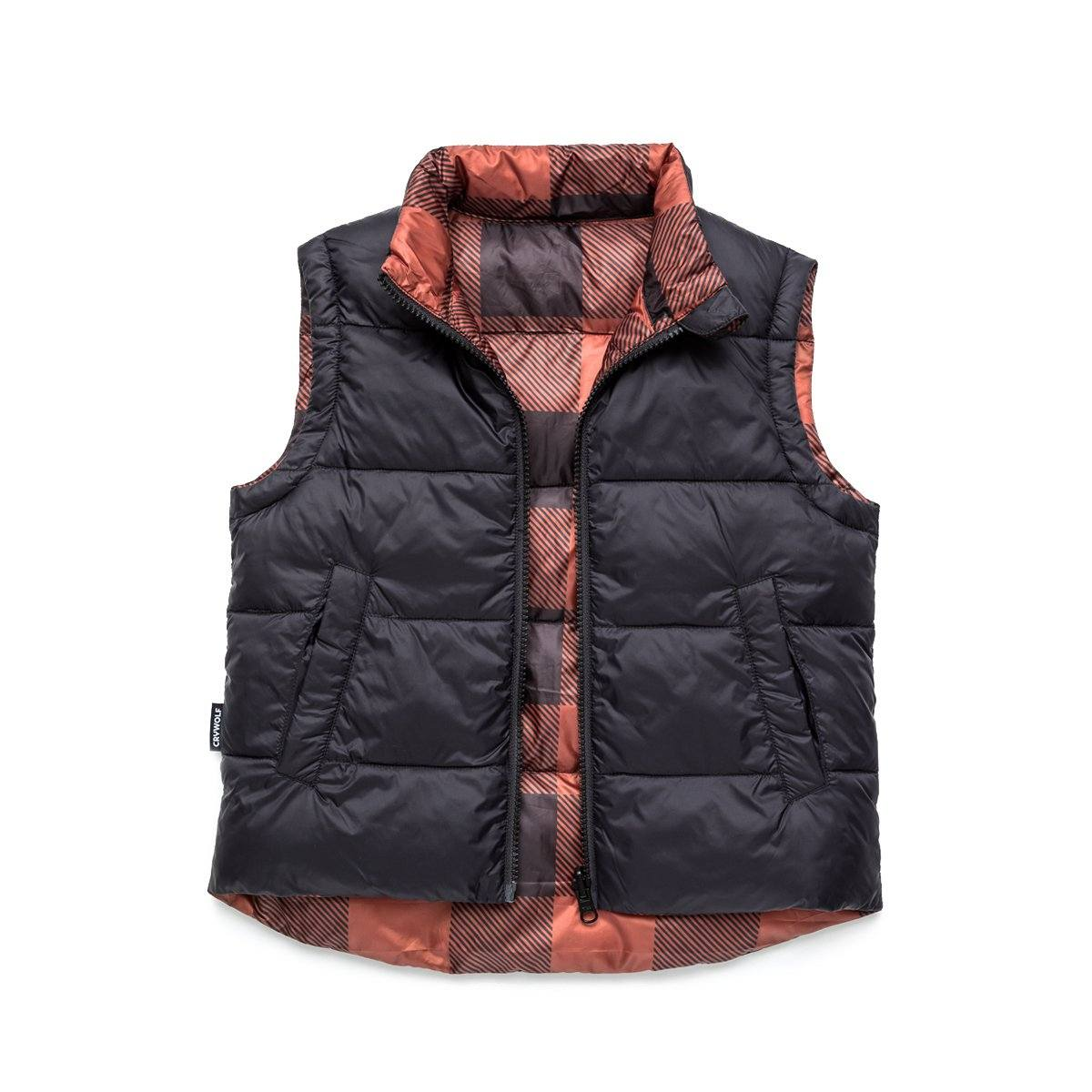 Reversible Puffer Vest (Plaid)