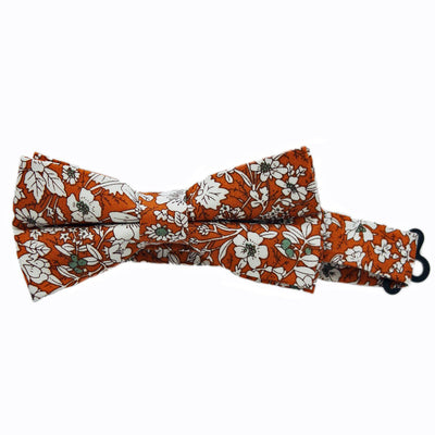 Orange Flowers Bow Tie