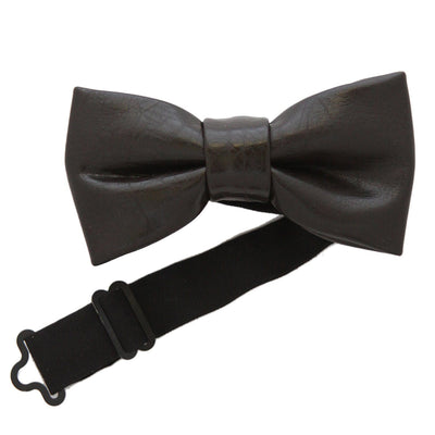 Leather Look Bow Tie (Choc)