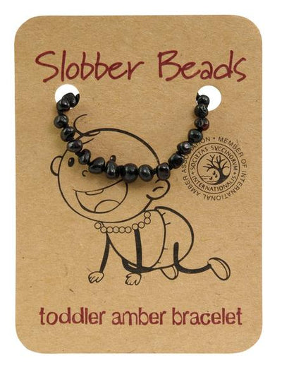 Amber Toddler Teething Bracelet (Cherry Round)