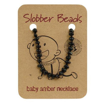 Amber Baby Teething Necklace (Cherry Round)